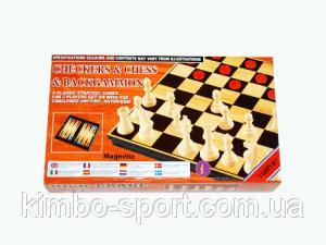 Игра 3 в 1 магнитная 30 см.*30 см. (шашки+шахматы+нарды)