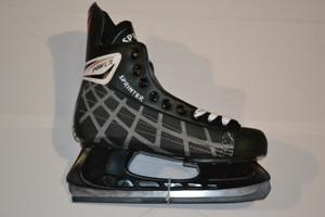 Коньки хок. (PVC-ткань-сталь) р.: 39-47 Черный 47