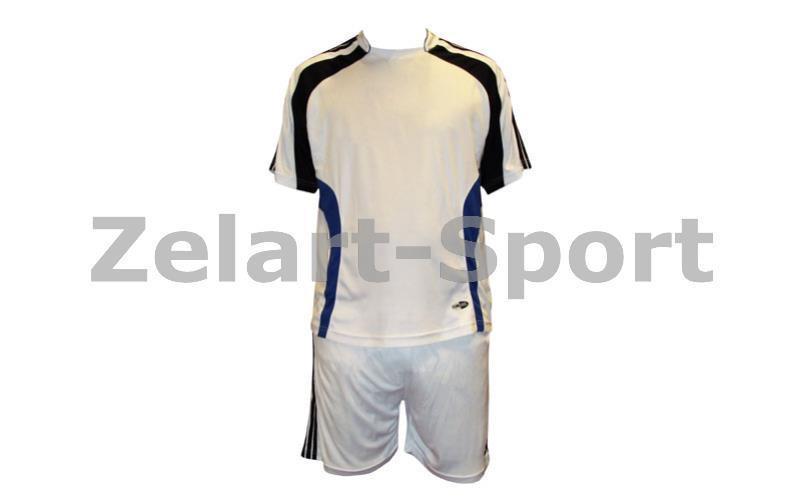 Форма футбольная без номера MATSA MA-0073-1 AD (р-р S-XL, белый-синий)