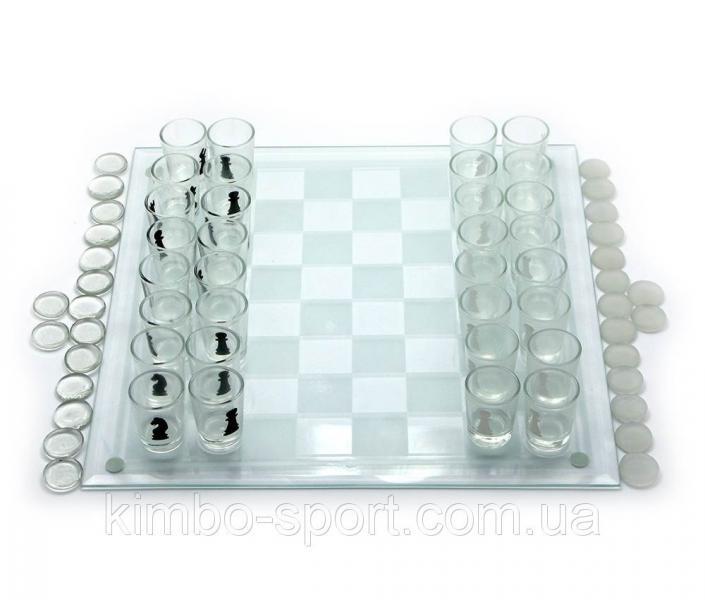 Игровой набор (шахматы с рюмками, шашки, карты)