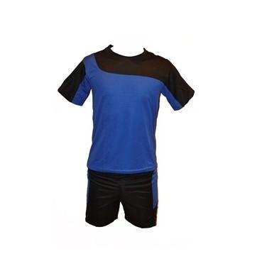 Форма футбольная детская, р-ры: 12, 14, 16, 18 (черно-синий комплект)