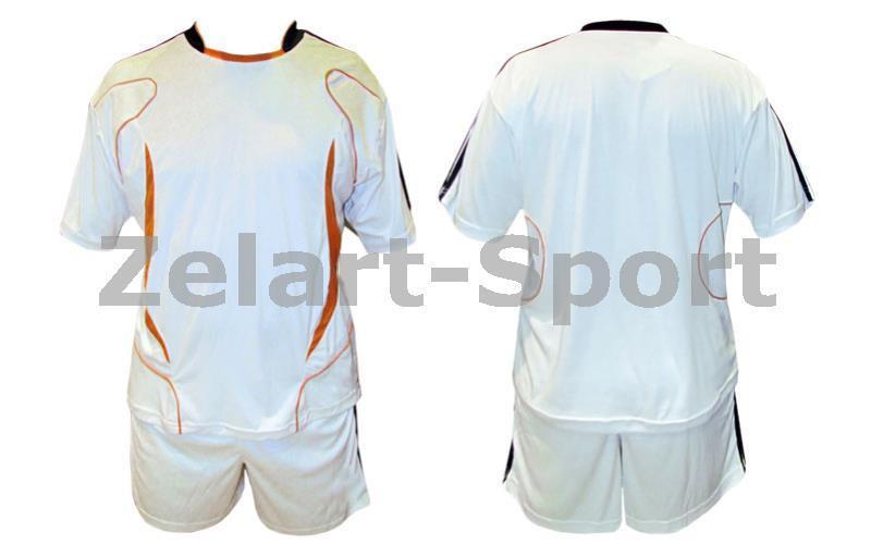Форма футбольная без номера MATSA MA-0073-5 AD (нейлон, р-р S-XL, RUS-46-54, белый-оранжевый)