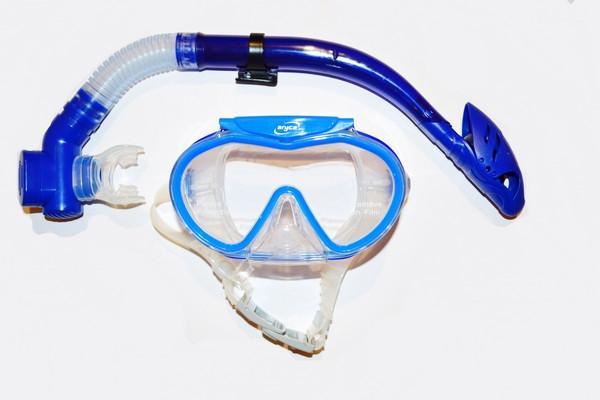 Набор для плавания, широкоформатный иллюминатор (маска с клапаном + трубка)