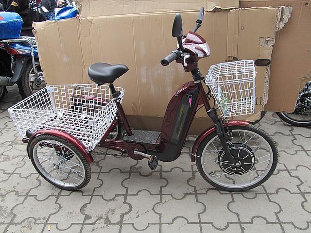 Електро - велосипед трехколесный