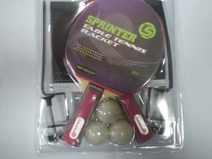 Набор для н. т. (2 ракетки + 3 шарика + сетка со стойками, в слюде)