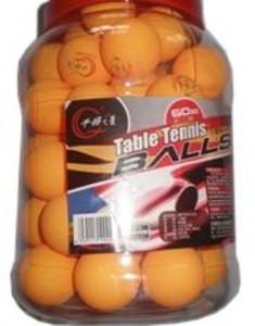 Шарики для настольного тенниса в банке (60 шт.) жёлтые, белые ВО-60