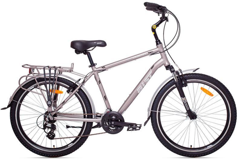 """Велосипед AIST CRUISER 2.0 песочный 26"""" 2017 серый"""