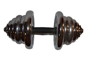 Гантель сборная 25 кг, хромированная