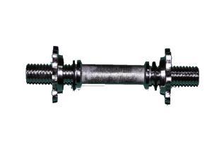 Гриф гантельный L - 430 мм., d - 25 мм., хромированный, замок - фигурная гайка