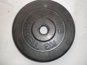 Диск SLS GYM BARBEL, обрез., чер., D - 26 мм., 5 кг