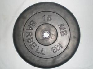 Диск SLS GYM BARBEL, обрез., чер., D - 26 мм.,  15 кг
