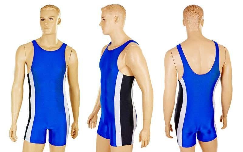 Трико для борьбы мужское UR  синий (бифлекс, р-р RUS-40-50)