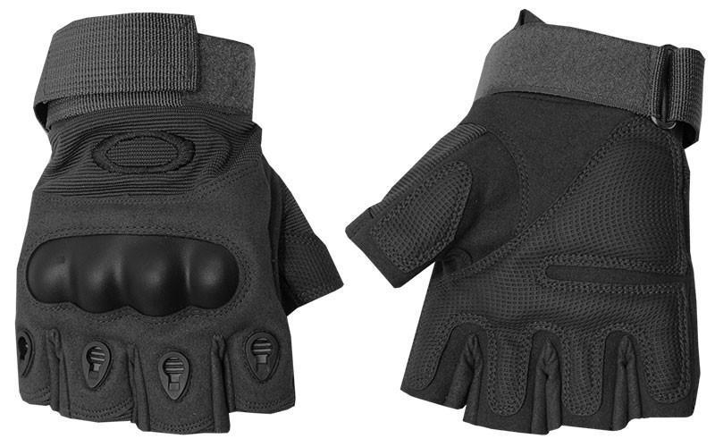 Перчатки тактические OAKLEY BC-4624-BK (PL,открытые пальцы,протектор-усилен,р-р M-XL, черный)