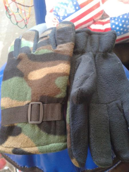 Перчатки тёплые на флисе