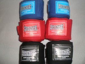 "Бинты боксёрские ""Sprinter"". Материал: хлопок+нейлон. Длина: 4м."