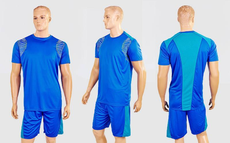 Футбольная форма Punch  (PL, р-р M-XXL, синий-бирюзовый, шорты синие)