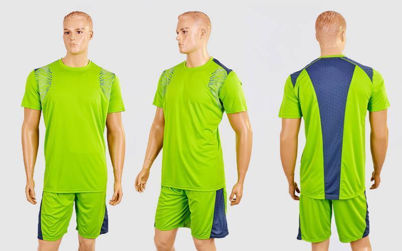 Футбольная форма Punch  (PL, р-р M-XXL,салатовый-серый,шорты салатовые)