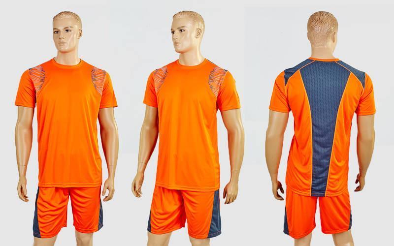 Футбольная форма Punch  (PL, р-р M-XXL,оранжевый-серый,шорты оранжевые)