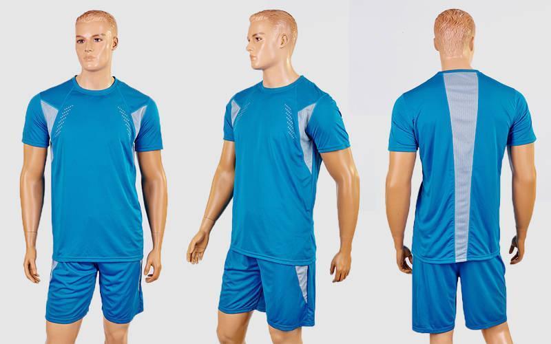 Футбольная форма Absolut  (PL, р-р M-XL, голубой, шорты голубые)