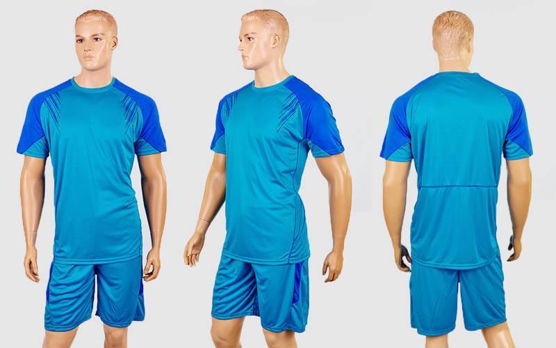 Футбольная форма Captain  (PL, р-р M-XXL, голубой-синий, шорты голубые)