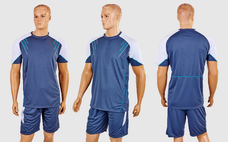 Футбольная форма Captain (PL, р-р M-XXL, серый-белый, шорты серые)