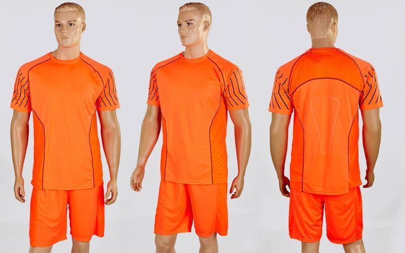 Футбольная форма Match  (PL, р-р M-XXL, оранжевый-серый, шорты оранж.)