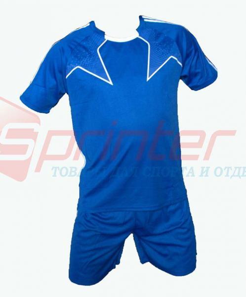 Форма футбольная юношеская,цвет: синий,р-р: S-XXL