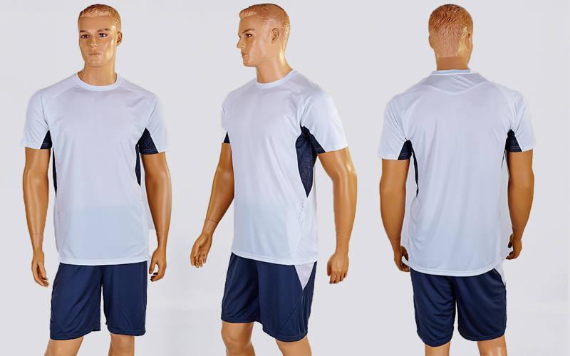 Футбольная форма Sole  (PL, р-р M-XXL, белый-серый, шорты серые)