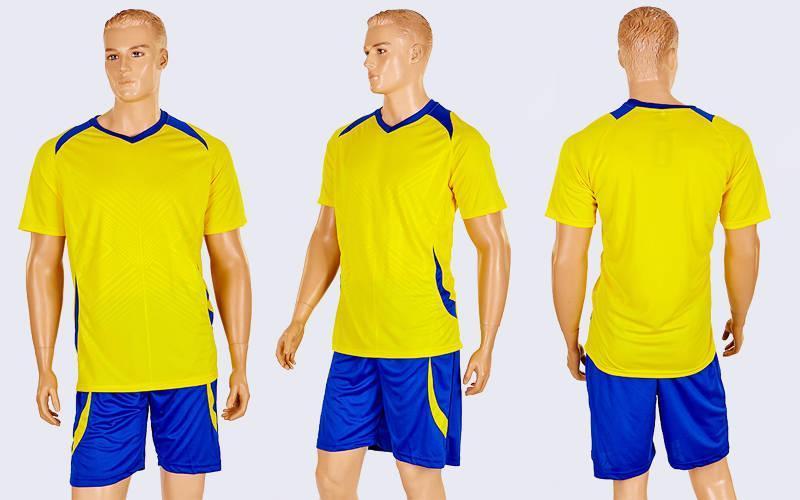 Футбольная форма подростковая Perfect  (PL, рост 120-150см, желтый-синий)