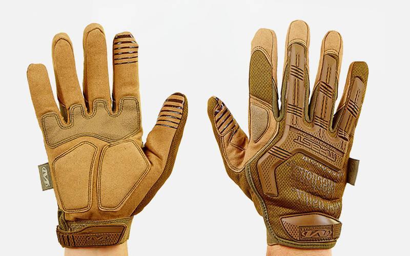Перчатки тактические с закрытыми пальцами MECHANIX MPACT (р-р M-XL, хаки)