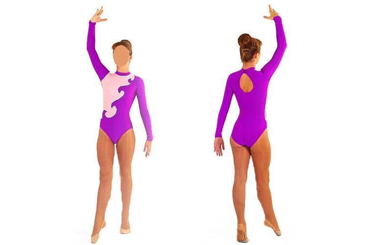 Купальник гимнастический для выступлений детский, цвет в ассортименте (RUS-32-38, р-122-152см)