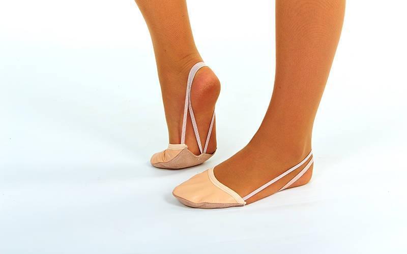 Получешки (полупальцы) для художественной гимнастики бежевые ZEL  (кожа,р-р XXS-XL-RUS 30-40)