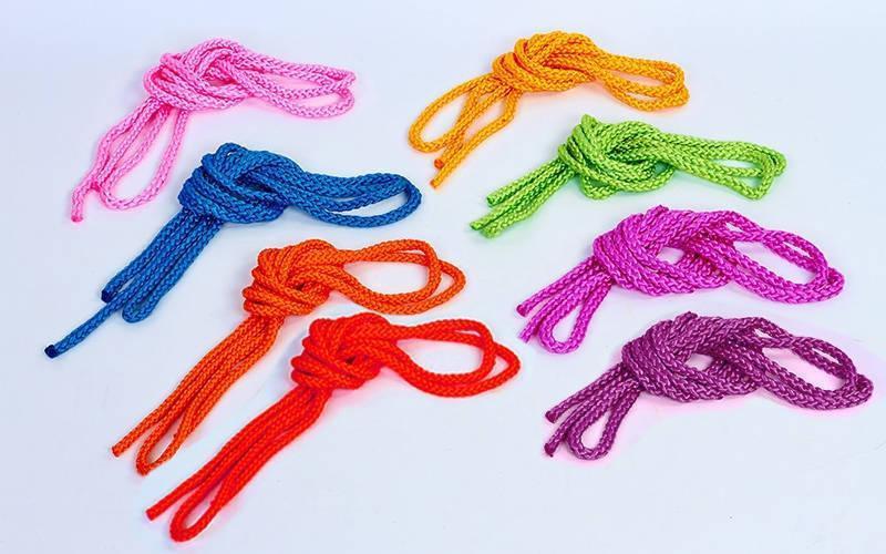 Скакалка для художественной гимнастики l-3м  (PL, l-3м, d-9мм, цвета в ассортименте)