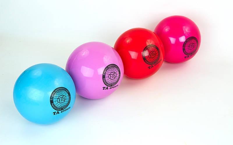 Мяч для художественной гимнастики d-20см TA SPORT  (PVC, d-20см, 400гр, цвета в ассортименте)
