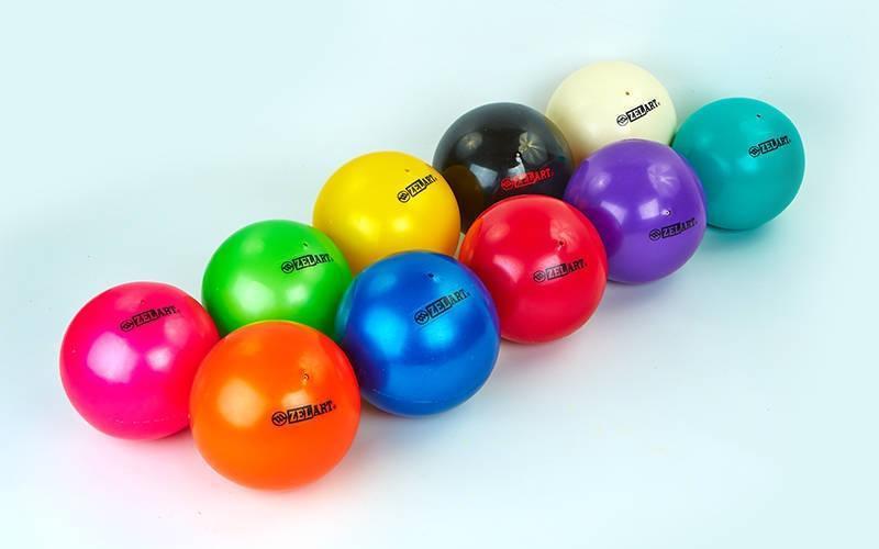 Мяч для художественной гимнастики d-20см ZEL  (PVC, d-20см, 400гр, цвета в ассортименте)