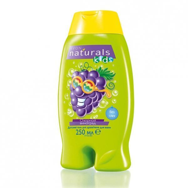 Детский гель для душа/пена для ванны «Смешной виноград», 250 мл