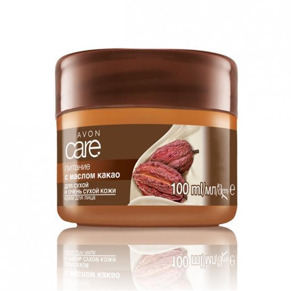 Фото для лица, по возрасту, для любого возраста Крем для лица с маслом какао «Питание»