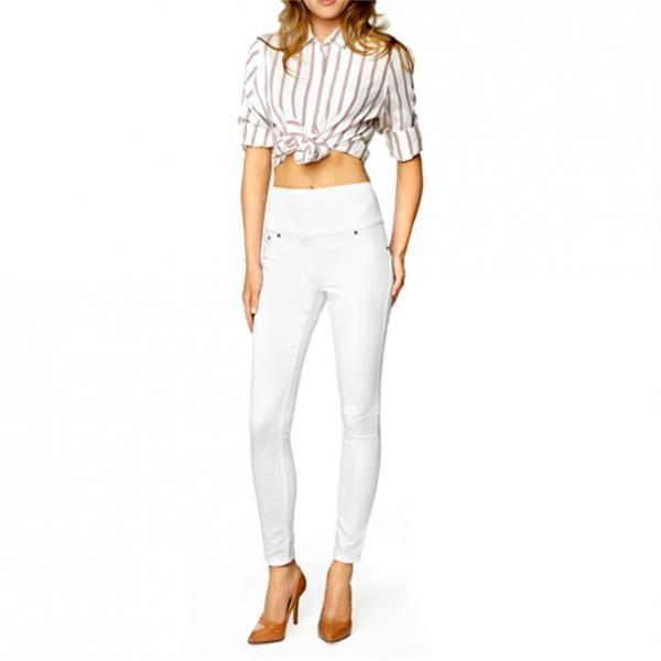 Женские брюки (джегінси). Белые