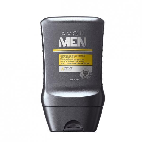 Комплексное средство для лица «Активізуйся» 2-в-1: бальзам после бритья и увлажняющий крем
