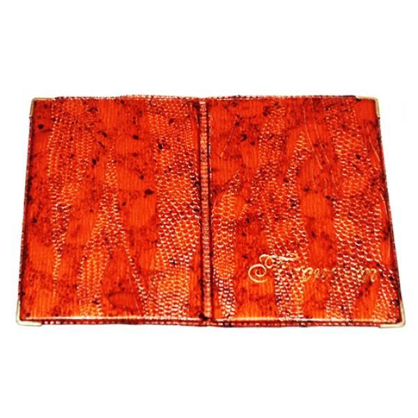 Обложка на паспорт Украина Рептилия Артикул 11 оранжевая
