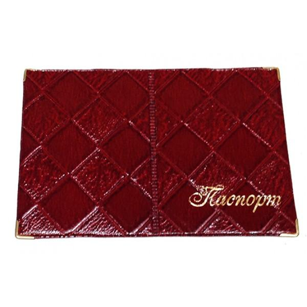 Обложка на паспорт Украина Артикул 010 ромб лаковый №05