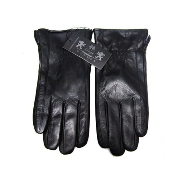 Мужские перчатки кожа Boxing Артикул Ю135-мех кролик №01
