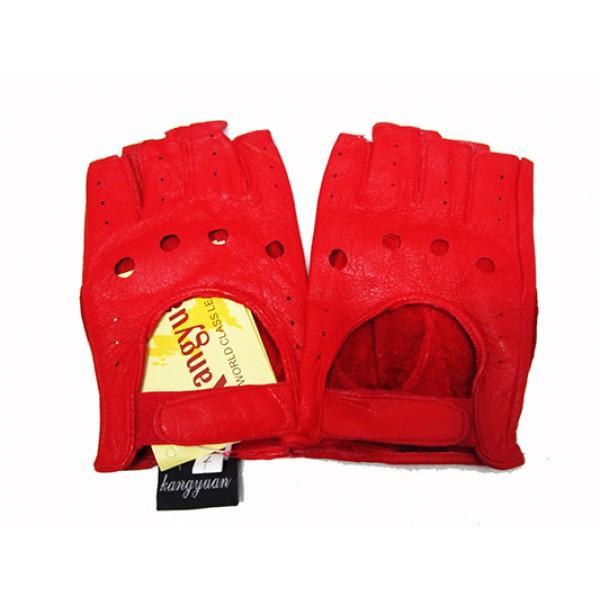 Женские перчатки без пальцев Boxing Артикул Ю-095 красные