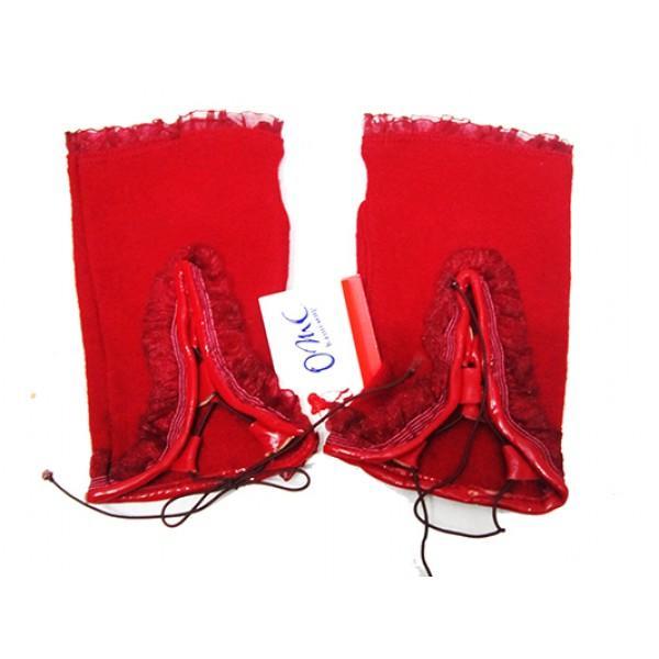 Женские перчатки без пальцев Boxing Артикул Ю-025 бордовые