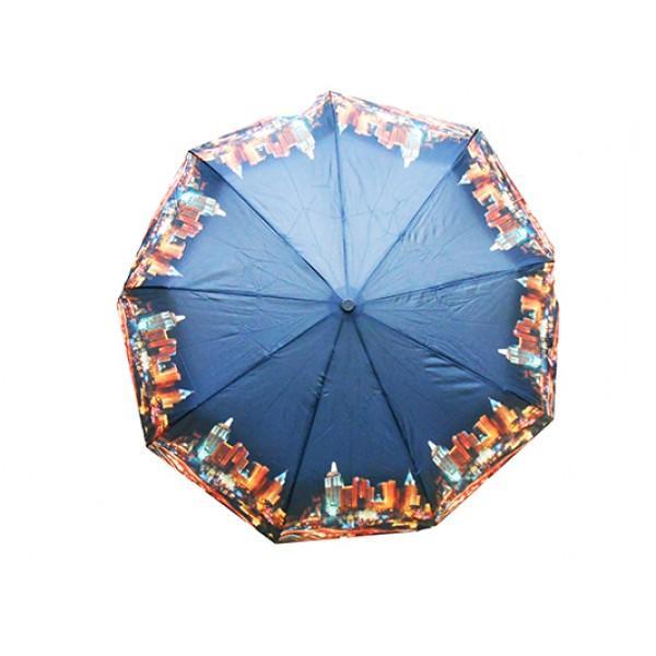 Женский зонт Dolpnin полуавтомат Артикул 186 голубой