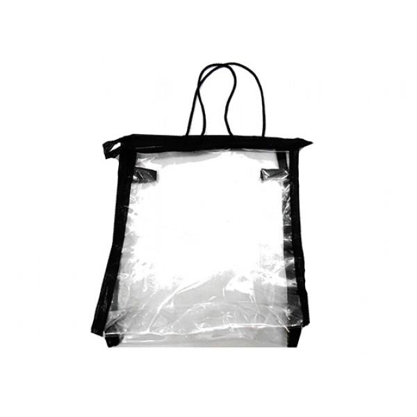 Женская прозрачная косметичка Артикул 052 черная кайма