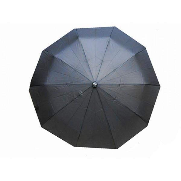 Мужской зонт полуавтомат 3 сложения ручка крючек Tornado Артикул 001