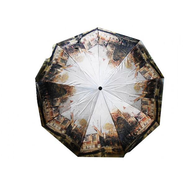 Женский зонт автомат 3 сложения River Артикул 2325 №01