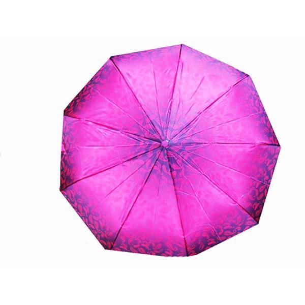 Женский зонт автомат 3 сложения River Артикул 1818 розовый
