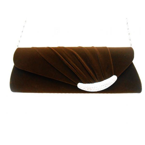 Женская вечерняя сумка Артикул 0733 коричневый